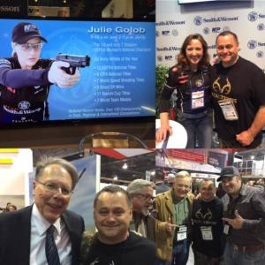 Kevin with Julie Golob, Wayne LaPierre Craig Boddington and Pigman