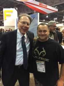 Kevin with the NRA's Wayne LaPierre