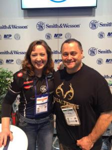 Kevin with Julie Golob