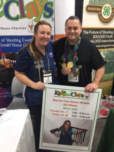 Kevin with 6x Olympic Skeet Champion Kim Rhode